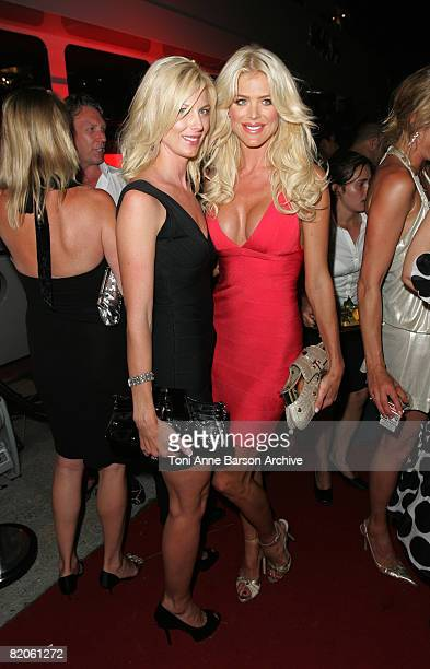 Victoria Silvstedt and sister Veronica Silvstedt attend the Soiree Tropezienne hosted by Denise Rich and ASMALLWORLD onboard Ms Rich's yacht the...