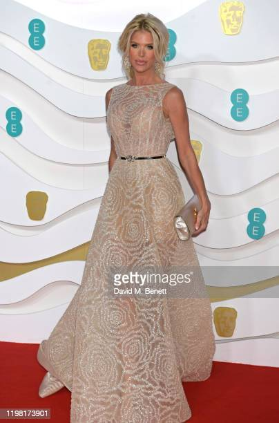 Victoria Silvstedt arrives at the EE British Academy Film Awards 2020 at Royal Albert Hall on February 2, 2020 in London, England.