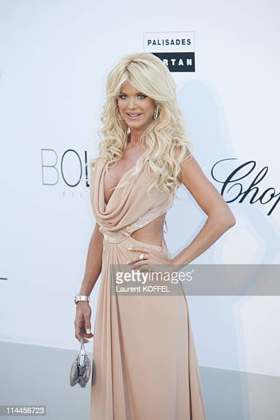 Victoria Silvstedt attends amfAR's Cinema Against AIDS Gala during the 64th Annual Cannes Film Festival at Hotel Du Cap on May 19 2011 in Antibes...