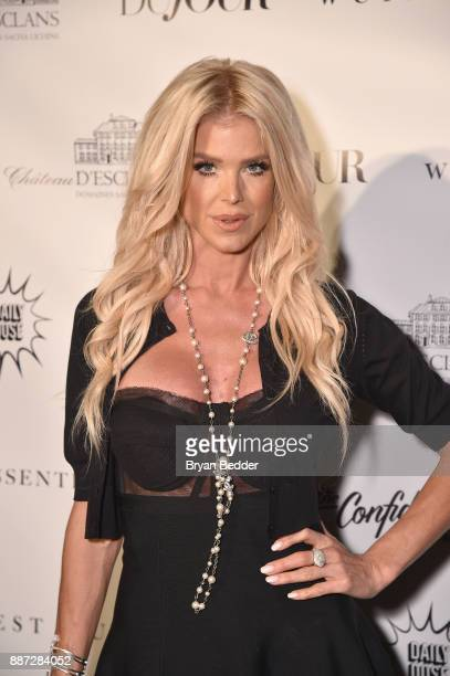 Victoria Silvstedt attends DuJour's Jason Binn And WellNEST Celebrate Miami Beach's Art Basel KickOff at The Confidante on December 6 2017 in Miami...