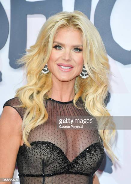 Victoria Silvstedt attends Fashion For Relief Cannes 2018 during the 71st annual Cannes Film Festival at Aeroport Cannes Mandelieu on May 13 2018 in...