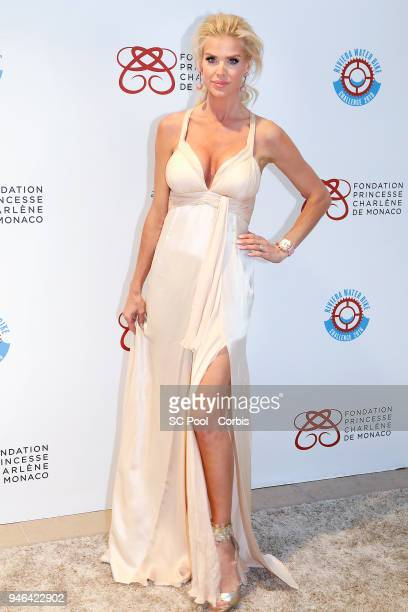 Victoria Silvstedt attends 'Riviera Water Bike Challenge' Gala at YCM on April 14 2018 in MonteCarlo Monaco