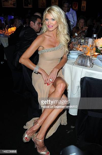 Victoria Silvstedt attends the 2012 amfAR's Cinema Against AIDS during the 65th Annual Cannes Film Festival at Hotel Du Cap on May 24 2012 in Cap...