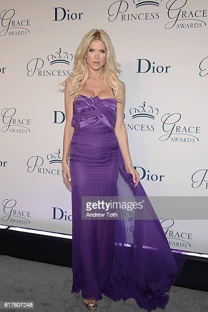 Victoria Silvstedt attends the 2016 Princess Grace Awards Gala with presenting sponsor Christian Dior Couture at Cipriani 25 Broadway on October 24...