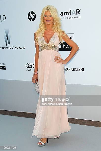 Victoria Silvstedt attends the amfAR Cinema Against AIDS 2010 at the Hotel du Cap during the 63rd Annual Cannes Film Festival on May 20 2010 in...
