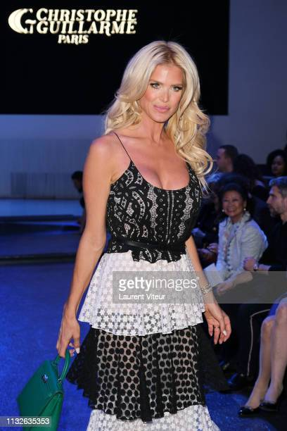 Victoria Silvstedt attends the Christophe Guillarme show as part of the Paris Fashion Week Womenswear Fall/Winter 2019/2020 on February 27 2019 in...