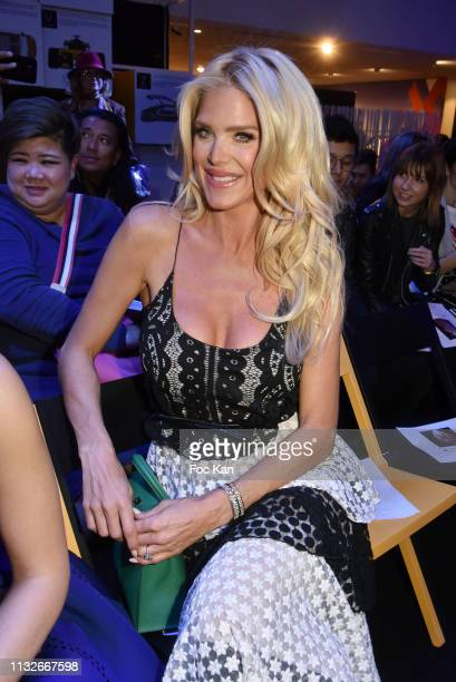 Victoria Silvstedt attends the Christophe Guillarme show as part of the Paris Fashion Week Womenswear Fall/Winter 2019/2020 on February 27, 2019 in...