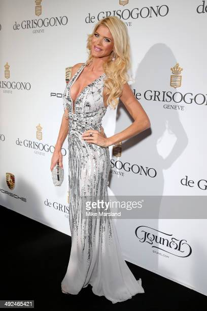Victoria Silvstedt attends the De Grisogono dinner party in collaboration with Gyunel during Cannes film festival at Hotel du CapEdenRoc on May 20...