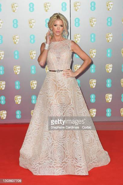 Victoria Silvstedt attends the EE British Academy Film Awards 2020 at Royal Albert Hall on February 02 2020 in London England