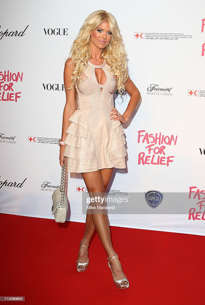 Victoria Silvstedt attends the ' Fashion For Relief Japan Fundraiser' during the 64th Annual Cannes Film at Forville Market on May 16, 2011 in Cannes, France.