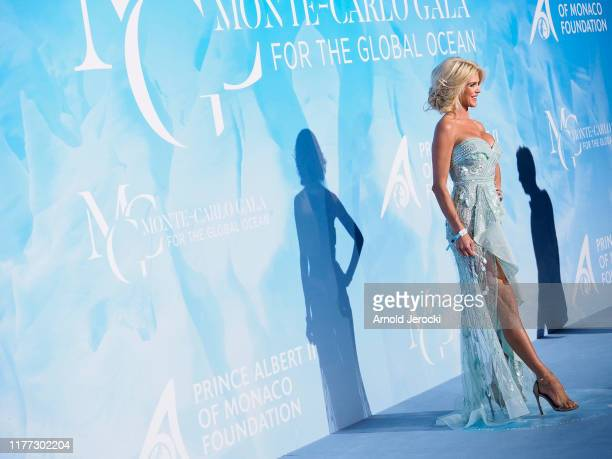 Victoria Silvstedt attends the Gala for the Global Ocean hosted by HSH Prince Albert II of Monaco at Opera of MonteCarlo on September 26 2019 in...