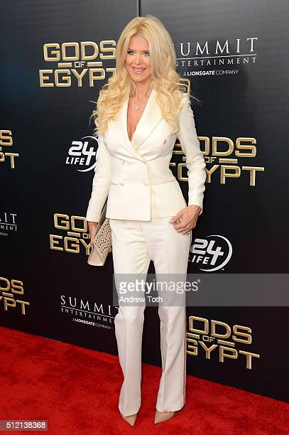 Victoria Silvstedt attends the 'Gods Of Egypt' New York City premiere at AMC Loews Lincoln Square 13 theater on February 24 2016 in New York City