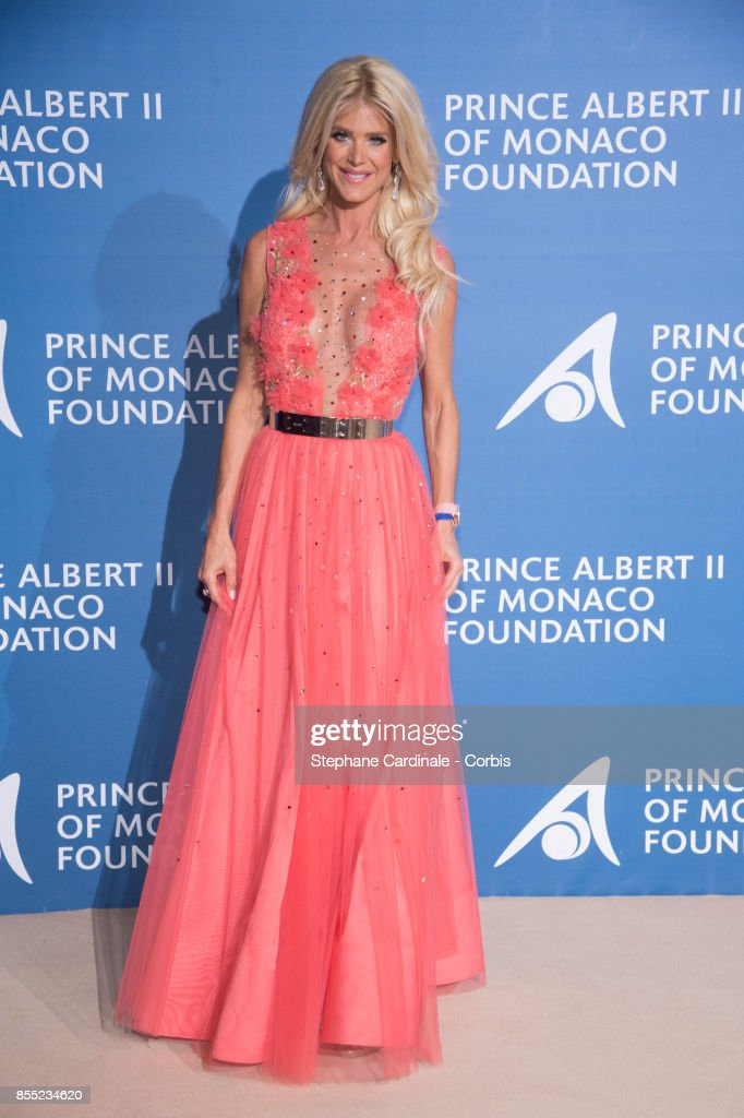 Victoria Silvstedt attends the Inaugural 'Monte-Carlo Gala For The Global Ocean' Honoring Leonardo DiCaprio at The Monaco Garnier Opera on September 28, 2017 in Monaco, Monaco.