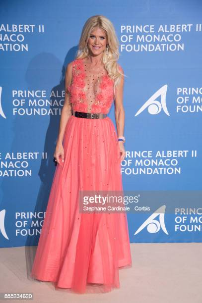 Victoria Silvstedt attends the Inaugural 'MonteCarlo Gala For The Global Ocean' Honoring Leonardo DiCaprio at The Monaco Garnier Opera on September...