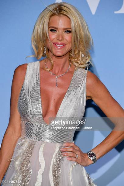 Victoria Silvstedt attends the MonteCarlo Gala for the Global Ocean 2018 on September 26 2018 in MonteCarlo Monaco