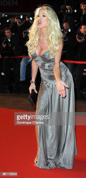 Victoria Silvstedt attends the NRJ Music Awards 2010 at Palais des Festivals on January 23 2010 in Cannes France