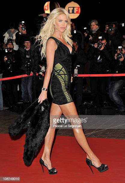 Victoria Silvstedt attends the NRJ Music Awards 2011 on January 22 2011 at the Palais des Festivals et des Congres in Cannes France