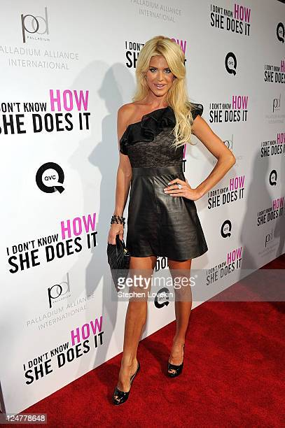 Victoria Silvstedt attends the premiere of The Weinstein Company's I Don't Know How She Does It Premiere sponsored by QVC Palladium Jewelry at AMC...