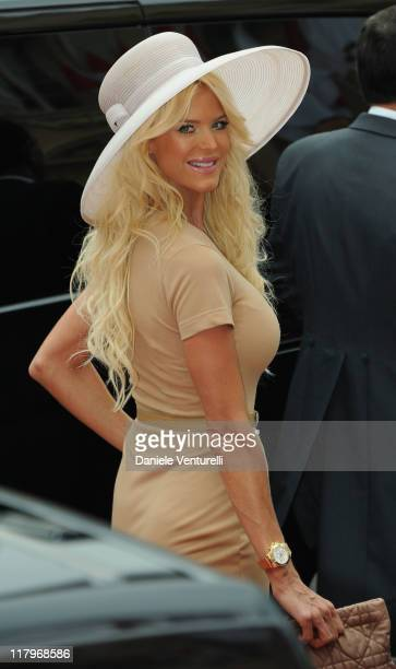 Victoria Silvstedt attends the religious ceremony of the Royal Wedding of Prince Albert II of Monaco to Princess Charlene of Monaco in the main...