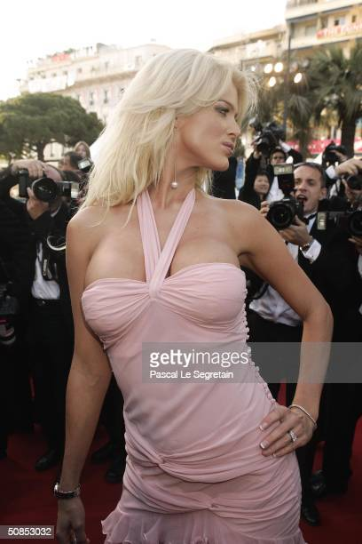 """Victoria Silvstedt attends the screening of the film """"The Ladykillers"""" at the Palais des Festivals during the 57th International Cannes Film Festival..."""