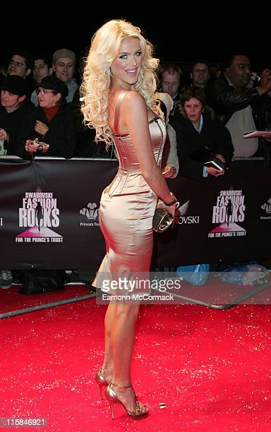 Victoria Silvstedt attends the Swarovski Fashion Rocks a the the Royal Albert Hall on October 18 2007 in London England