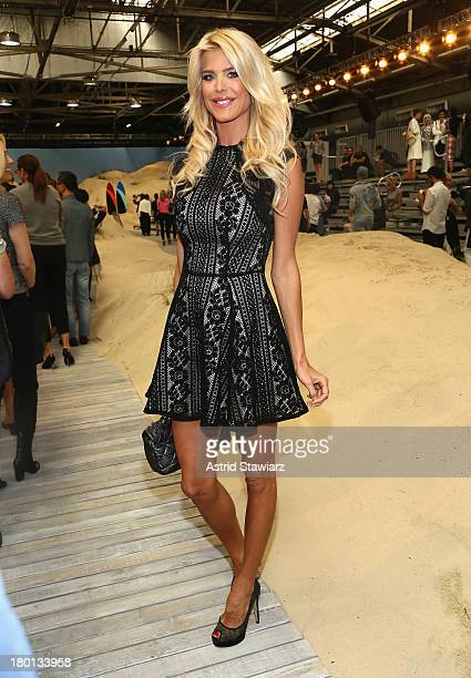 Victoria Silvstedt attends the Tommy Hilfiger Women's fashion show during MercedesBenz Fashion Week Spring 2014 at Pier 94 on September 9 2013 in New...
