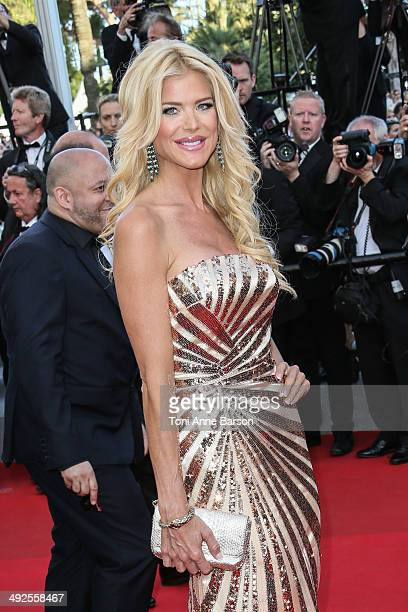 Victoria Silvstedt attends the 'Two Days One Night' premiere at the 67th Annual Cannes Film Festival on May 20 2014 in Cannes France