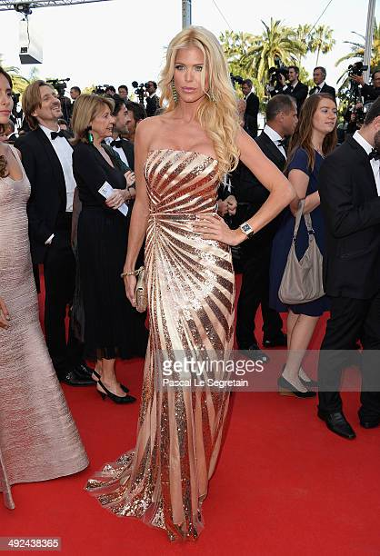 Victoria Silvstedt attends the Two Days One Night premiere during the 67th Annual Cannes Film Festival on May 20 2014 in Cannes France