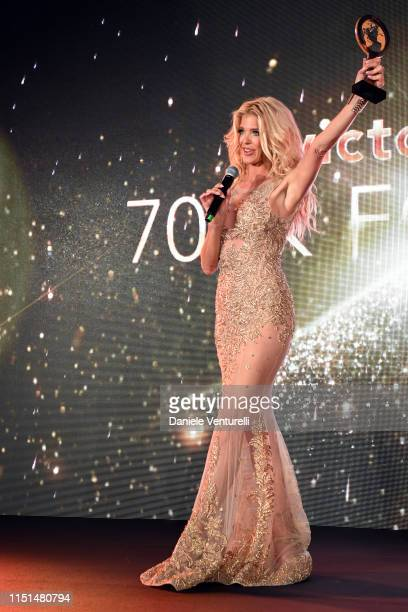 Victoria Silvstedt attends theInaugural 'World Bloggers Awards' during the 72nd annual Cannes Film Festival on May 24, 2019 in Cannes, France. The...