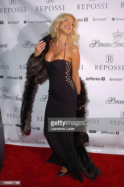 Victoria Silvstedt during 2004 Princess Grace Awards Gala Arrivals at Ciprianis in New York City New York United States