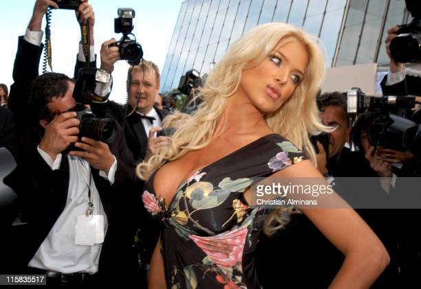Victoria Silvstedt during 2005 Cannes Film Festival Match Point Premiere in Cannes France