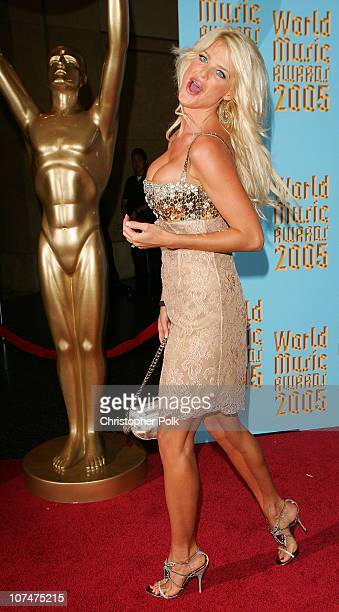 Victoria Silvstedt during 2005 World Music Awards - Arrivals at Kodak Theater in Hollywood, California, United States.