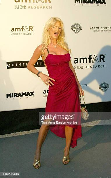 """Victoria Silvstedt during amfAR's """"Cinema Against AIDS Cannes"""" Benefit Sponsored by Miramax and Quintessentially - Arrivals at Moulin De Mougins in..."""