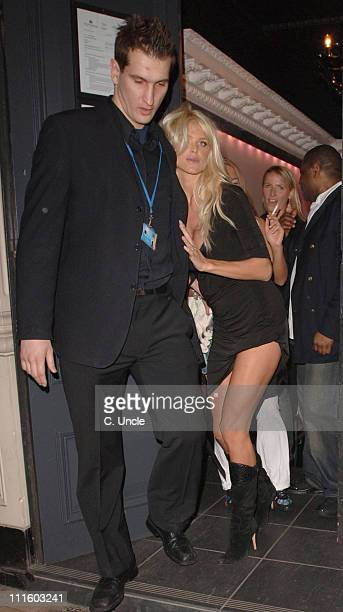 Victoria Silvstedt during Celebrity Sightings at Movida Nightclub in London January 19 2006 at Movida Nightclub in London Great Britain