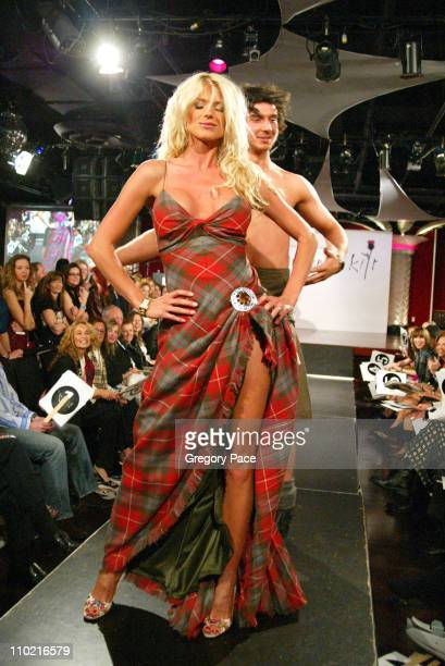 Victoria Silvstedt during 'Dressed to Kilt' A Scottish Evening of Fashion and Fun Runway at Copacabana in New York City New York United States