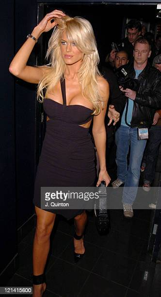 Victoria Silvstedt during Gentlemen Prefer Blondes Party - London at Funky Buddha Nightclub in London, Great Britain.