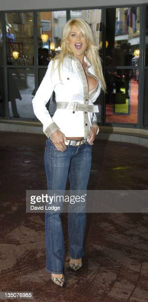 Victoria Silvstedt during ITV1's Celebrity Wrestling Press Launch at Soho Hotel in London Great Britain