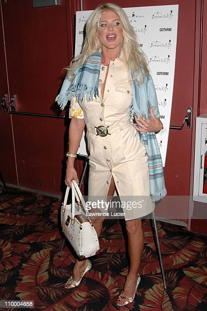 Victoria Silvstedt during Johnnie Walker Presents Dressed to Kilt Arrivals and Runway at Copacabana in New York City New York United States