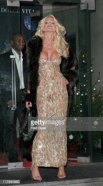 Victoria Silvstedt during La Dolce Vita Ball in Association with UNICEF at Old Billingsgate Market in London in London United Kingdom