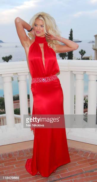 Victoria Silvstedt during La Dolce Vita Grand Prix Ball May 27 2006 at Les Salles Des Etoiles in Monaco