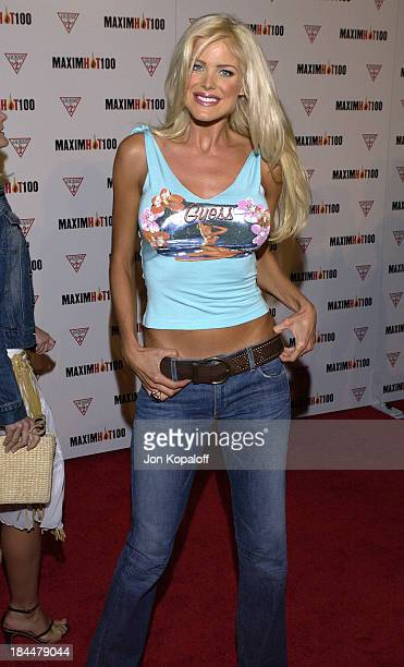 Victoria Silvstedt during Maxim Hot 100 Party Arrivals at Yamashiro in Hollywood California United States