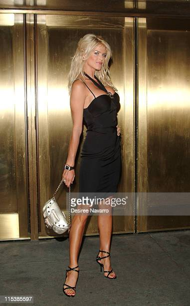 Victoria Silvstedt during Olympus Fashion Week Spring 2006 - Baby Phat - Arrivals at Radio City Music Hall in New York City, New York, United States.