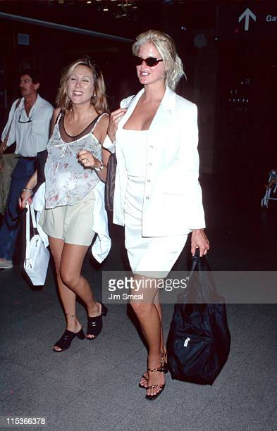 Victoria Silvstedt during Victoria Silvstedt Sighting at LAX July 22 1997 at Los Angeles International Airport in Los Angeles California United States