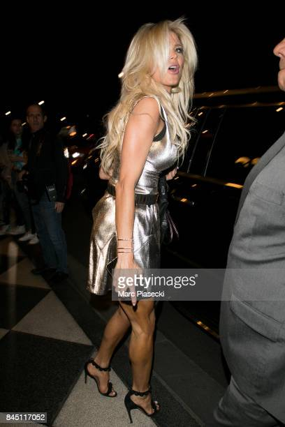 Victoria Silvstedt is seen on September 9 2017 in New York City