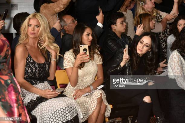 Victoria Silvstedt, Nawel Debbouzze and Kenza Farah attend the Christophe Guillarme show as part of the Paris Fashion Week Womenswear Fall/Winter...