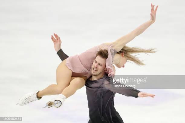 Victoria Sinitsina and Nikita Katsalapov of Figure Skating Federation of Russia perform in Ice Dance Free Dance during day four of the ISU World...