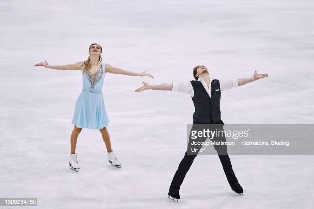 Victoria Sinitsina and Nikita Katsalapov of FSR compete in the Ice Dance Rhythm Dance during day three of the ISU World Figure Skating Championships...