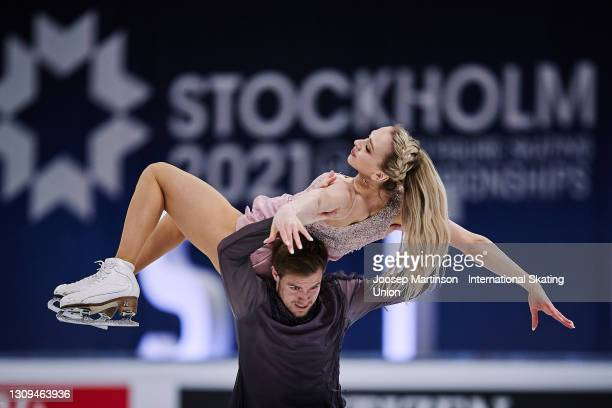 Victoria Sinitsina and Nikita Katsalapov of FSR compete in the Ice Dance Free Dance during day four of the ISU World Figure Skating Championships at...