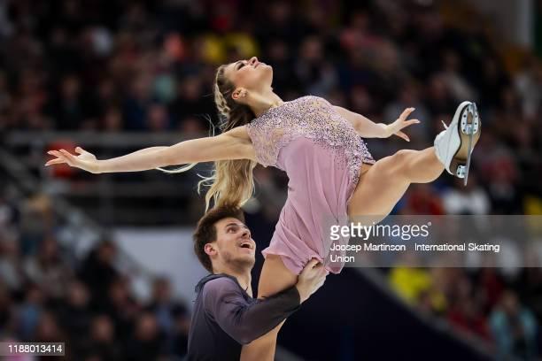 Victoria Sinitsina and Nikita Katsalapov of Russia compete in the Ice Dance Free Dance during day 2 of the ISU Grand Prix of Figure Skating...