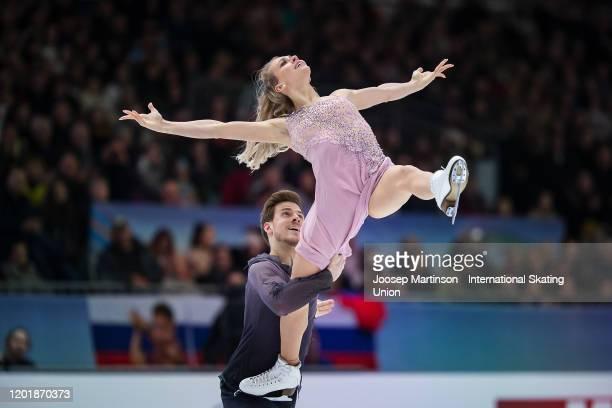 Victoria Sinitsina and Nikita Katsalapov of Russia compete in the Ice Dance Free Dance during day 4 of the ISU European Figure Skating Championships...